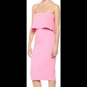 LIKELY Driggs Barbie Pink Midi Dress